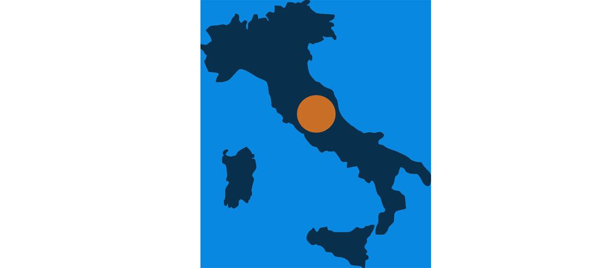 L'Umbria nell'Italia centrale